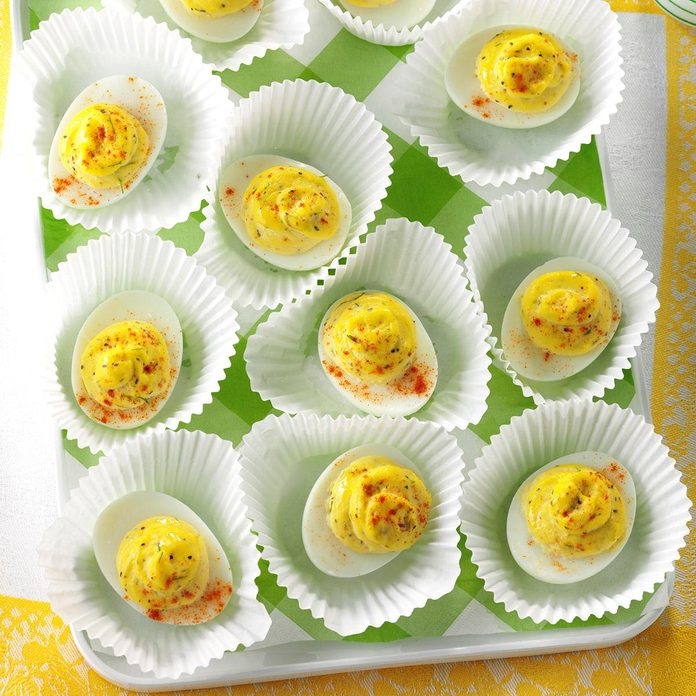 Garlic-Dill Deviled Eggs