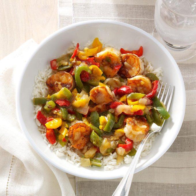 Ginger-Chutney Shrimp Stir-Fry