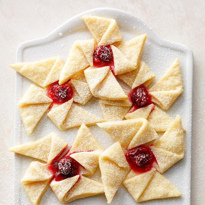 Ginger Cranberry Pinwheels