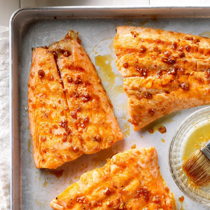 Day 19: Ginger-Glazed Grilled Salmon