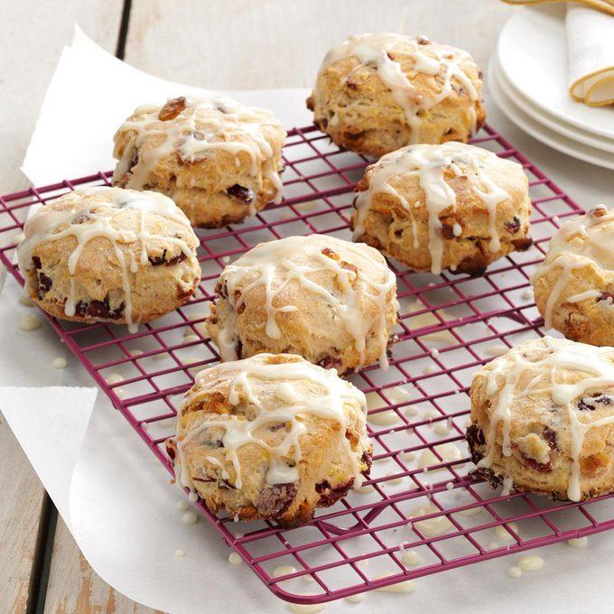 Glazed Cranberry Biscuits