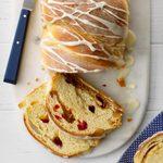 Glazed Cranberry Swirl Loaf