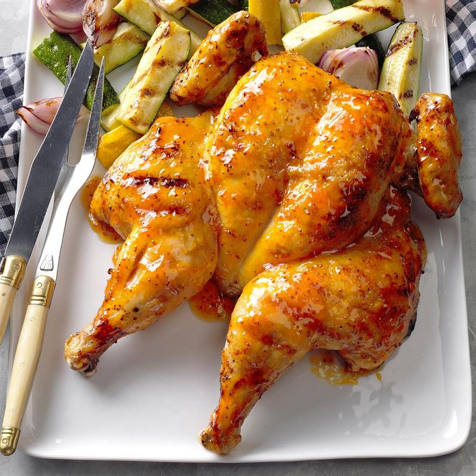 James Schend, Deputy Editor: Glazed Spatchcocked Chicken