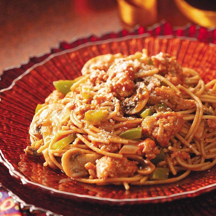 Gluten-Free Quick Turkey Spaghetti