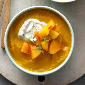 Golden Beet and Peach Soup with Tarragon