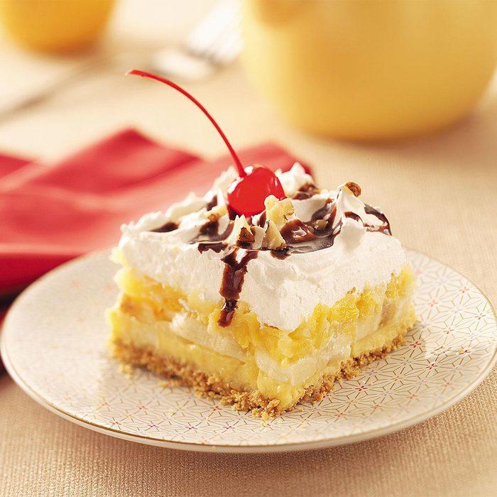 Graham Cracker Banana Split Dessert