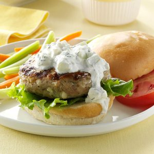 Greek-Style Chicken Burgers