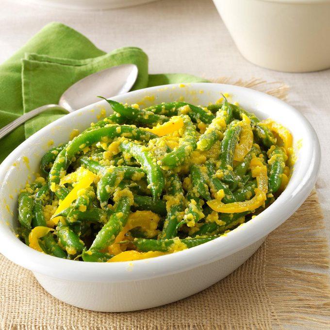 Green Beans with Yellow-Pepper Butter