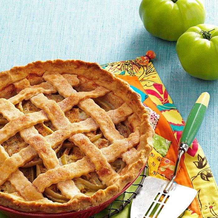 Green Tomato Lattice Pie