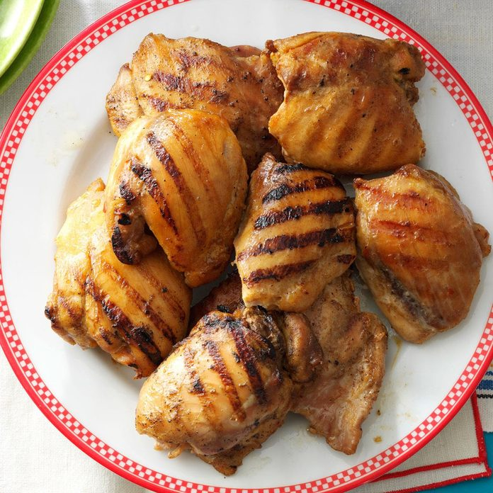 Grilled Brown Sugar-Mustard Chicken