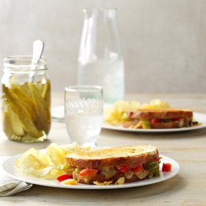 Grilled Cheese & Pepper Sandwiches