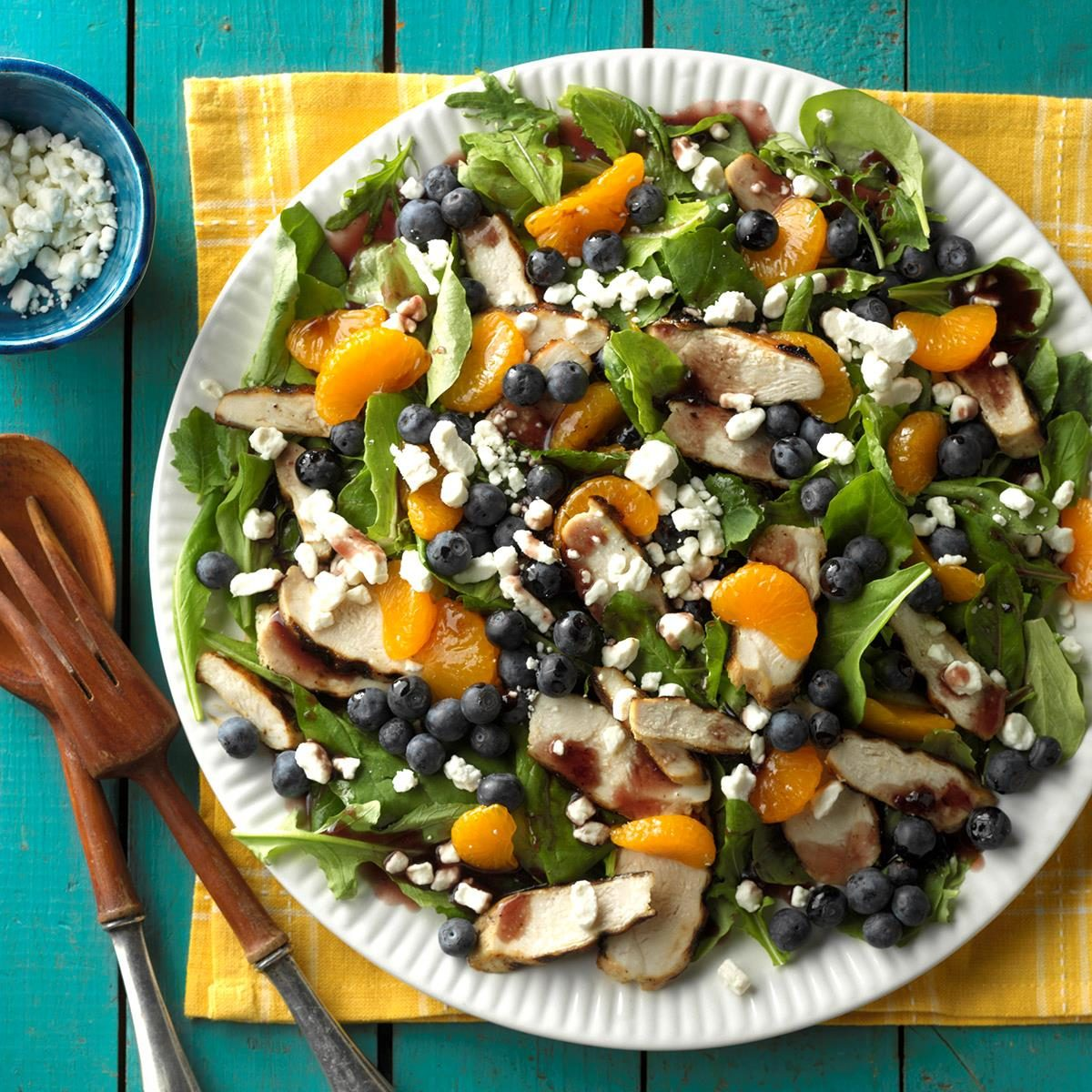 Grilled Chicken Salad with Blueberry Vinaigrette