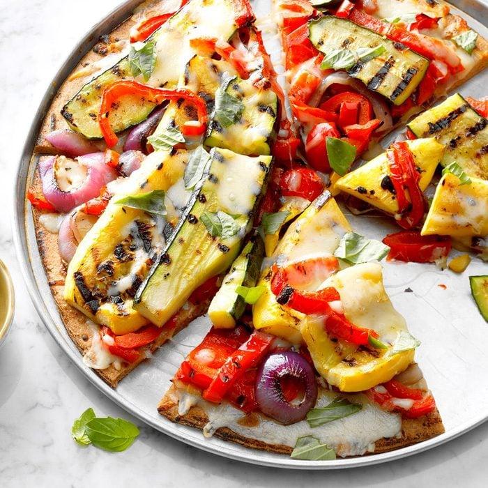Day 8: Grilled Garden Veggie Pizza