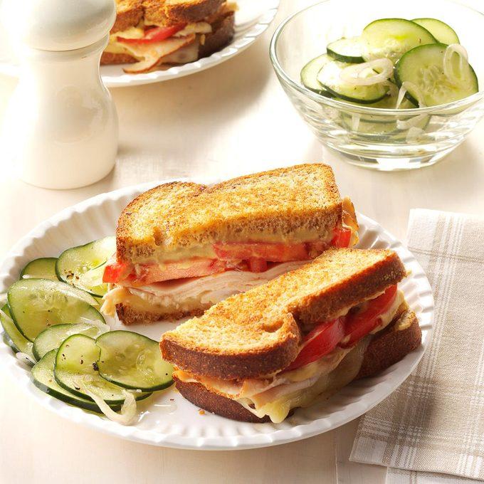 Grilled Hummus Turkey Sandwich