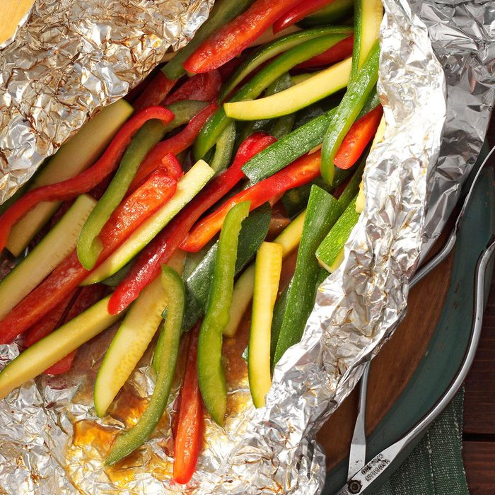 Grilled Peppers and Zucchini