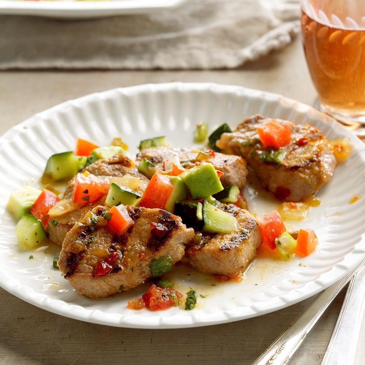 Tuesday: Grilled Pork with Avocado Salsa