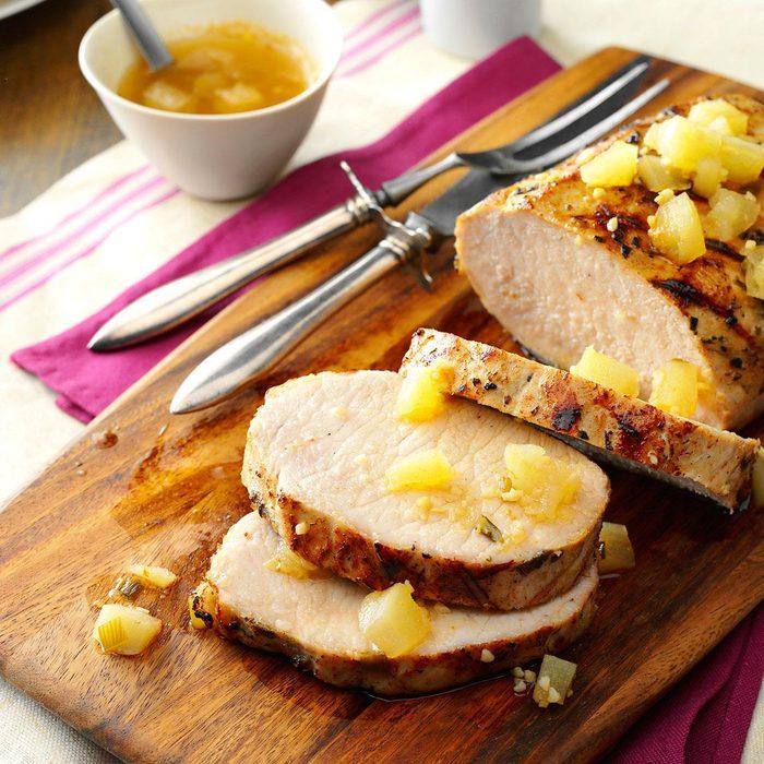 Grilled Rosemary Pork Roast
