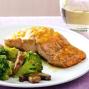 Grilled Salmon with Marmalade Dijon Glaze