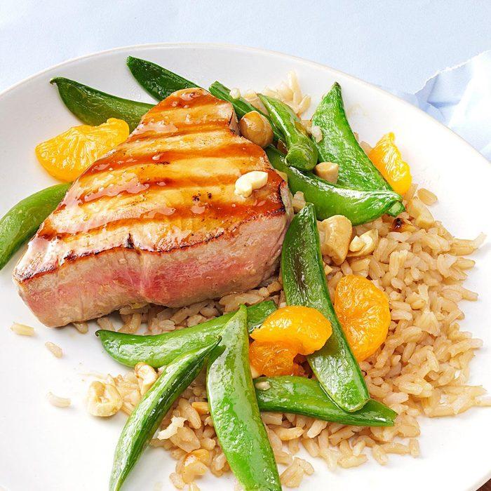 Grilled Sesame Orange Tuna Steaks