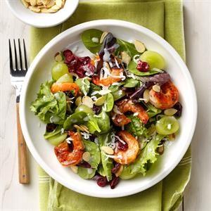 Grilled Shrimp Salads with Coconut Vinaigrette