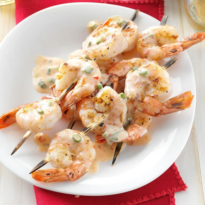 Grilled Shrimp with Spicy-Sweet Sauce