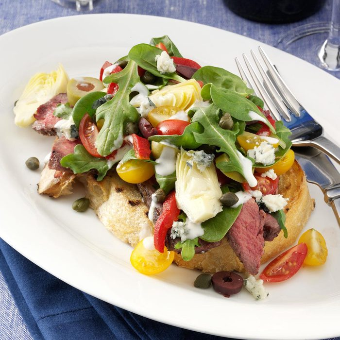 Grilled Steak Bruschetta Salad