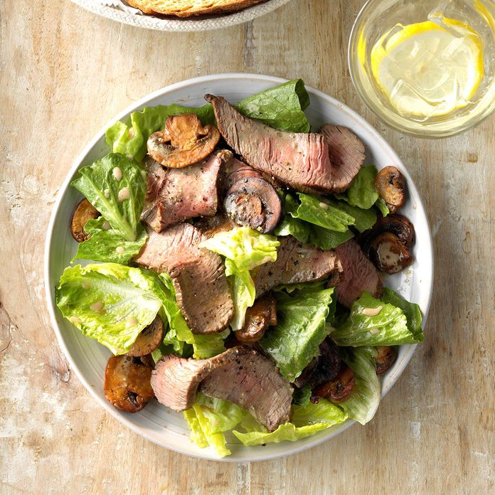 Day 2: Grilled Steak and Mushroom Salad