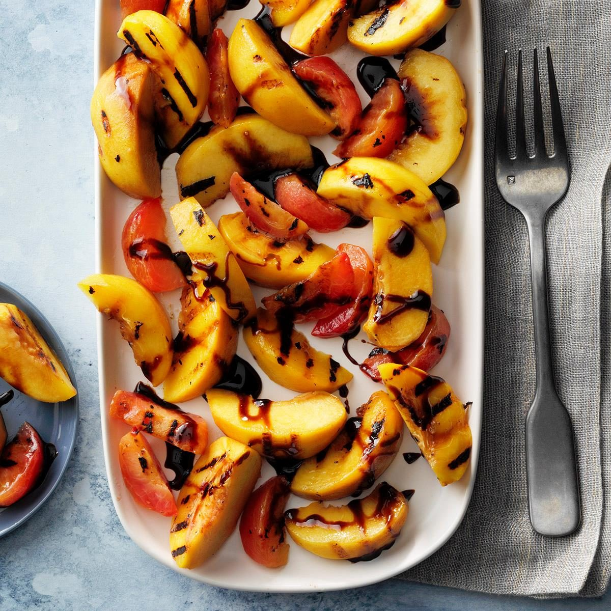 Grilled Stone Fruits with Balsamic Syrup