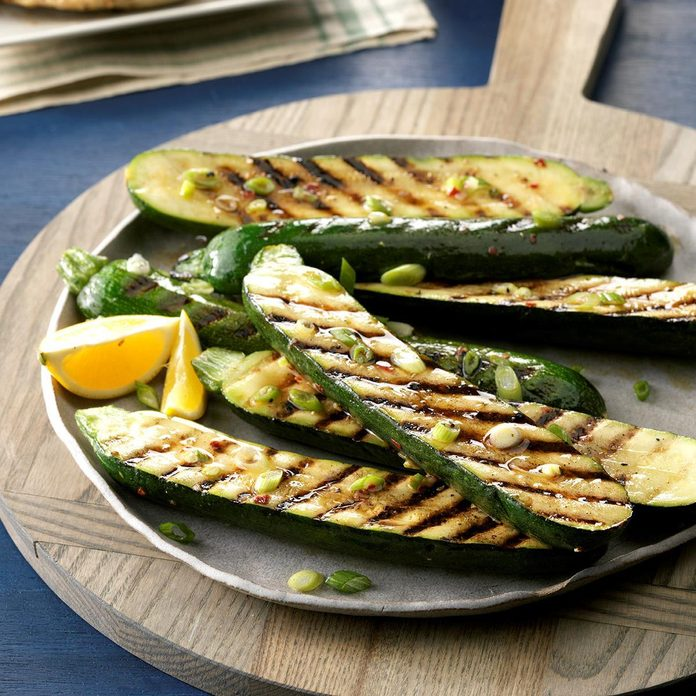 Grilled Zucchini with Onions