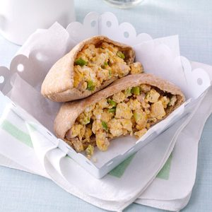 Ham & Egg Pita Pockets