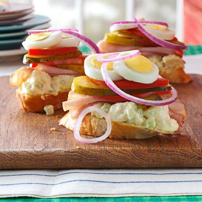 Ham & Potato Salad Sandwiches