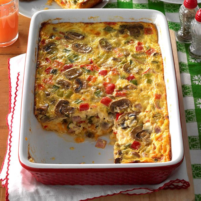 Ham 'n' Cheese Egg Bake