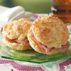 Ham on Biscuits