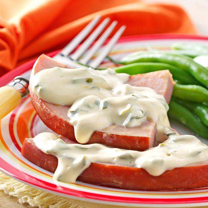 Ham with Mustard-Cream Sauce