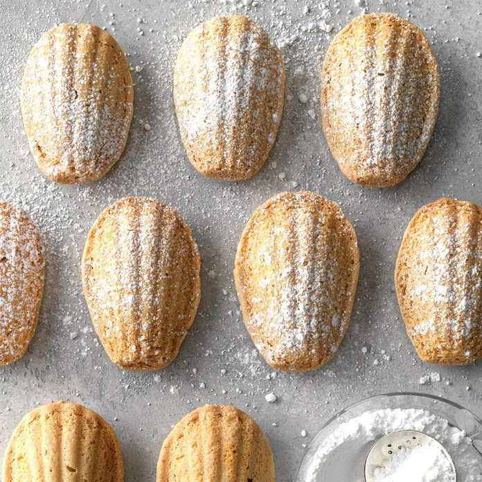 Hazelnut Madeleine Cookies