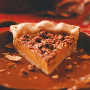 Hazelnut Pumpkin Pie