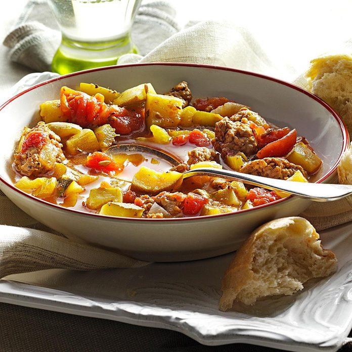 January: Hearty Minestrone Soup