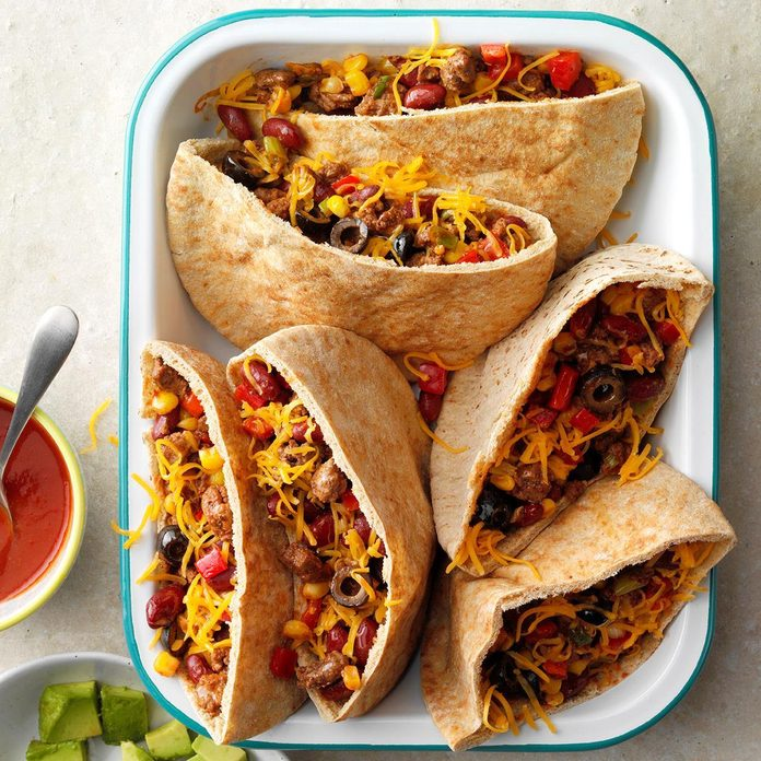 Day 26: Hearty Pita Tacos