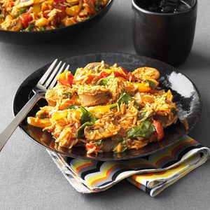 Hearty Sausage and Rice Skillet