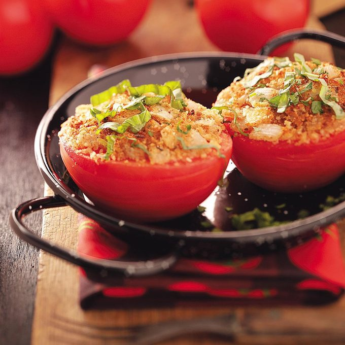 Inspired by: Julia's Stuffed Tomatoes