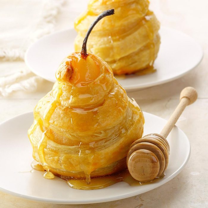 Honeyed Pears in Puff Pastry
