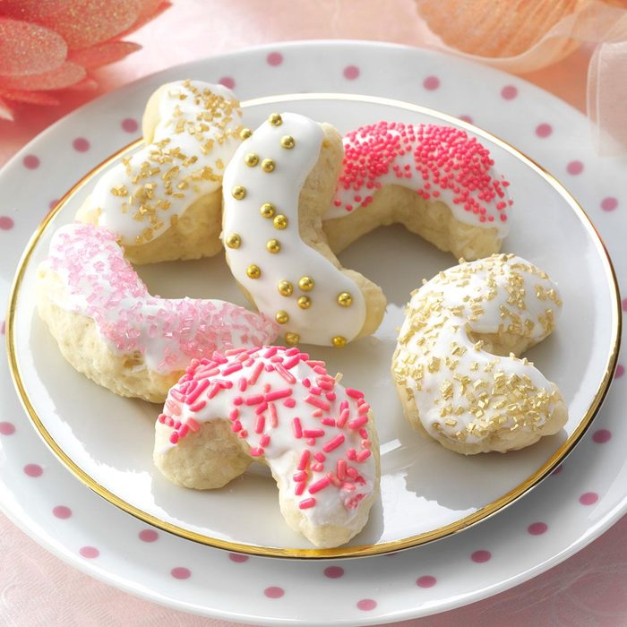 Iced Coconut Crescents