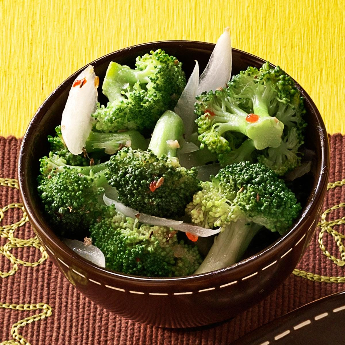 Italian dressed broccoli