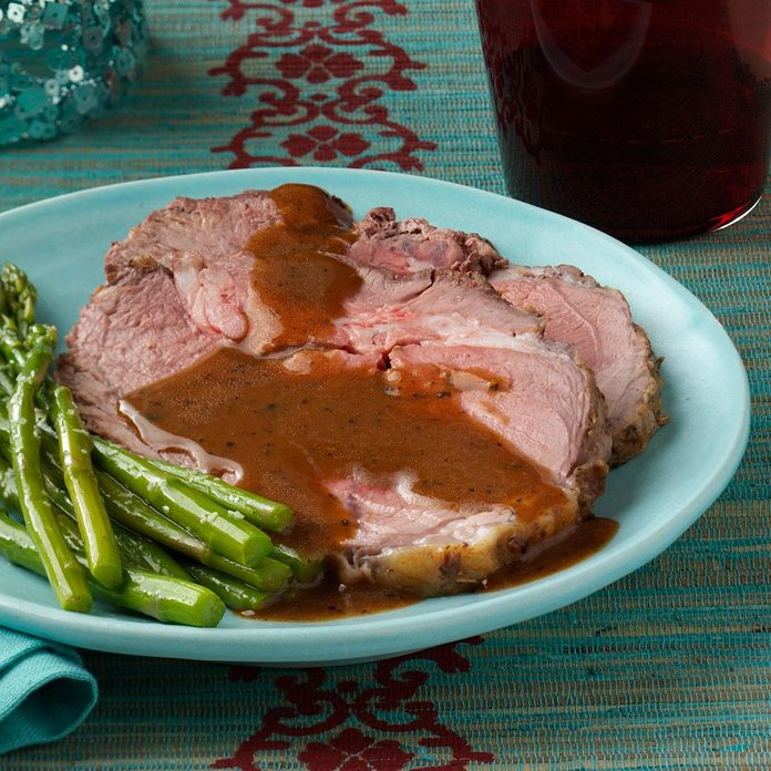 Italian Leg of Lamb with Lemon Sauce