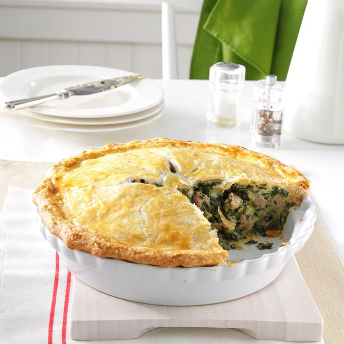 Italian Sausage And Spinach Pie Exps3073 Th133086d07 25 4b Rms 2
