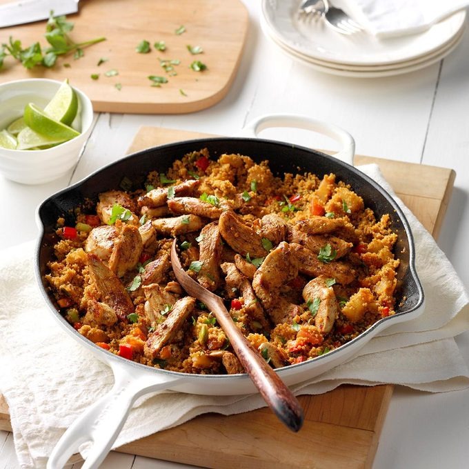 Jerk Chicken with Tropical Couscous
