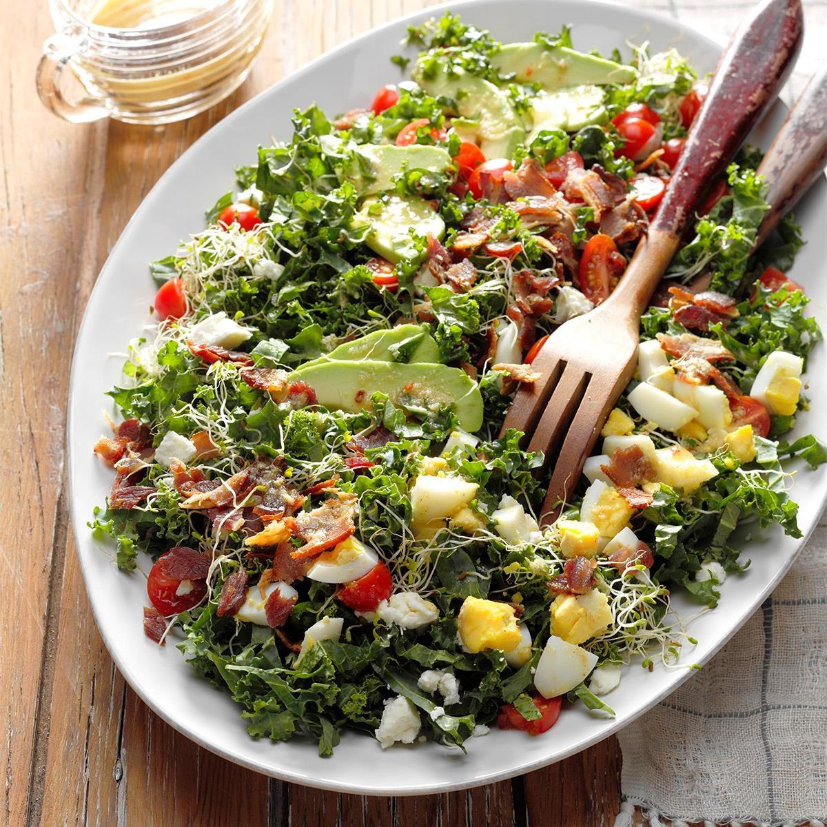 Oklahoma: Kale & Bacon Salad with Honey-Horseradish Vinaigrette