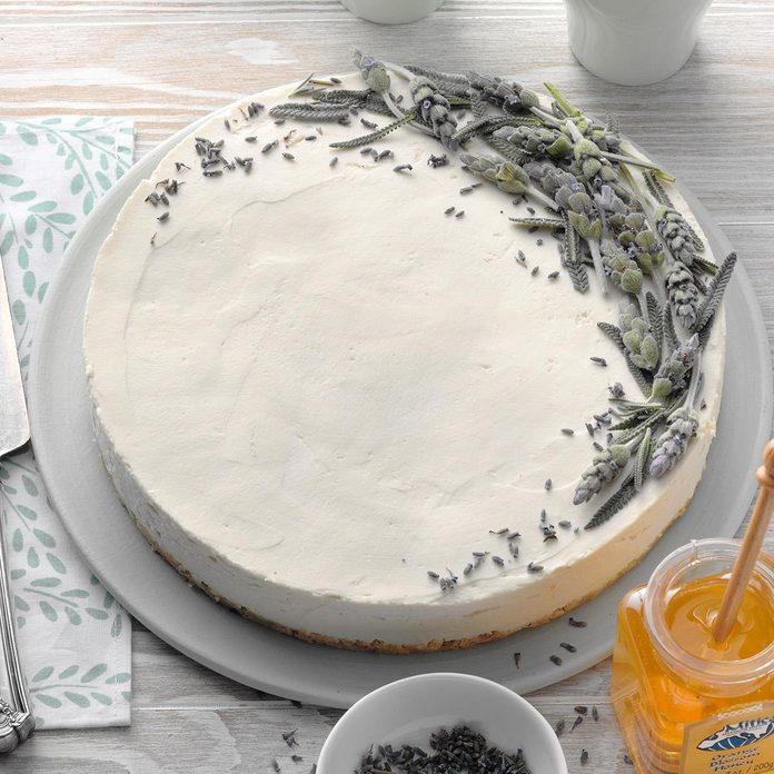 Lavender Honey Cheesecake