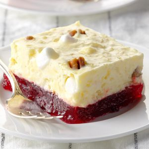 Layered Cranberry Gelatin Salad