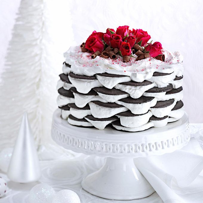 Layered Peppermint Icebox Cake